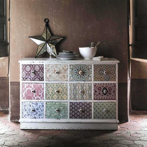bouton de meuble maison du monde cabinet de rangement imprim 233 en bois blanc l 120 cm c 233 lestine maisons du monde diy