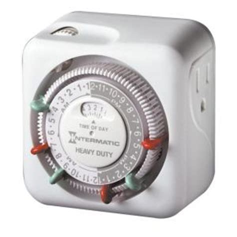 intermatic 15 amp heavy duty indoor plug in dial timer