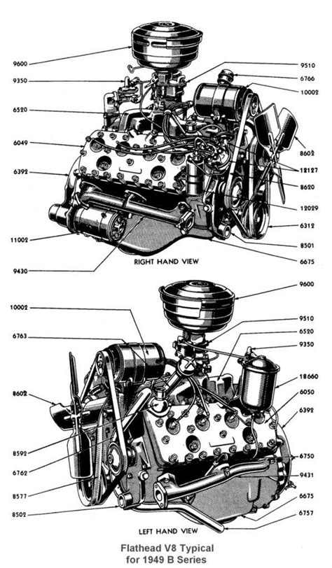 Ford V8 Engine Diagram by Ford Flathead V8 60 1937 To 1940 60 Hp Small Displacement