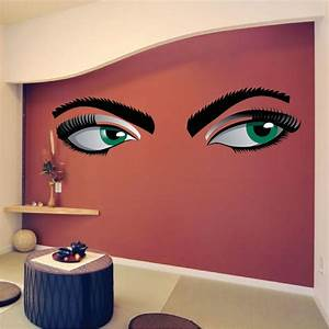 mystery eyes mural decal adult wall decal murals With wall murals decals
