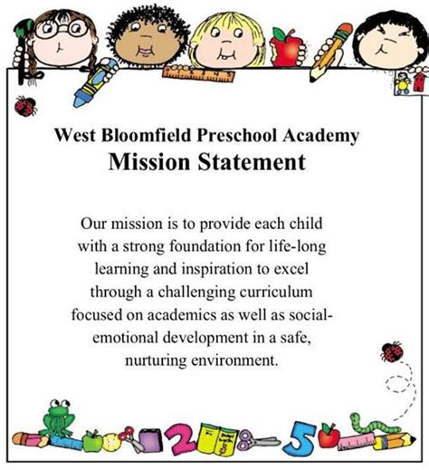 preschool mission statement examples community education preschool academy wbpa 728
