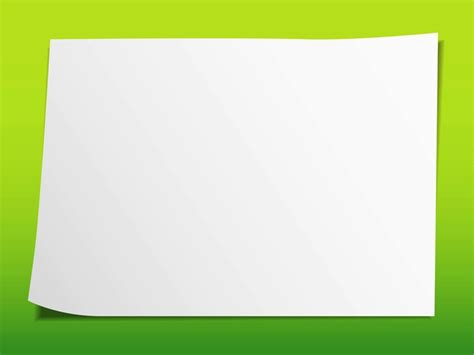 sheet  blank drawing paper vector