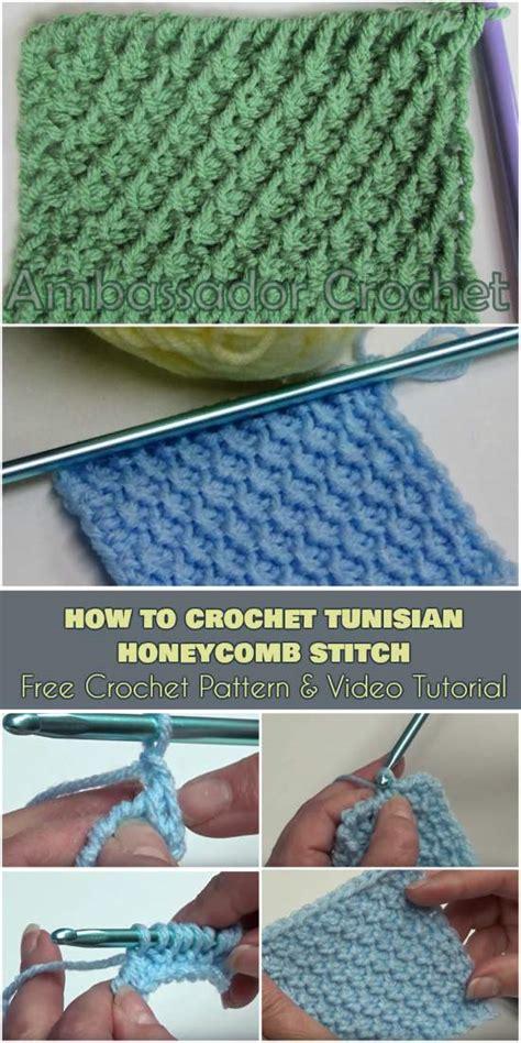 crochet  tunisian honeycomb stitch  pattern