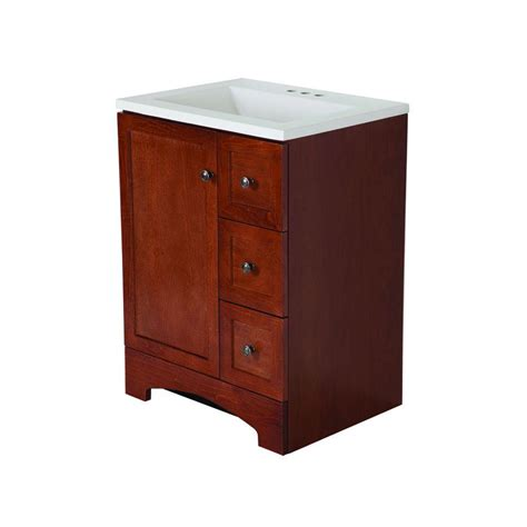 glacier bay bathroom cabinets glacier bay all in one 24 in w vanity combo in amber with