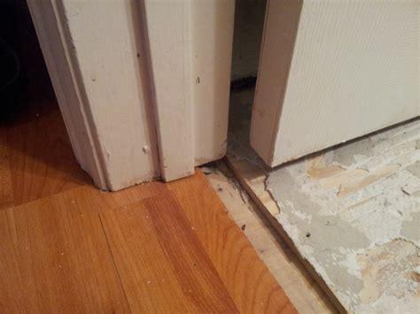door transition image for hardwood to carpet