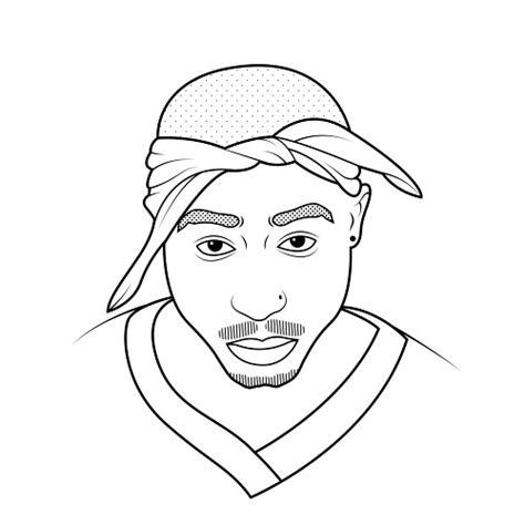 Kleurplaat Dieer by Gallery Easy Tupac Drawings Drawings Gallery
