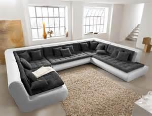 sofa neu wohnlandschaft exit 385x300 cm weiss anthrazit couchgarnitur design sofa neu ebay