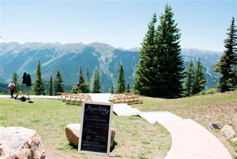 aspen colorado mountain wedding megan bobby rustic