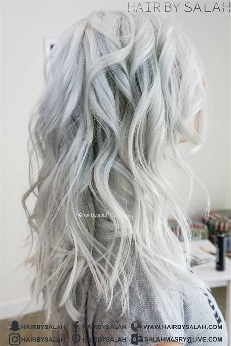 White Color Hair by Silver White Hair Color Hair By Salah