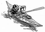 Kayak Drawing Coloring Kayaking Drawings Edupics Robin Stained Glass sketch template