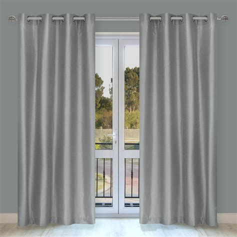 lj home fashions silkana 88 in faux silk grommet curtain