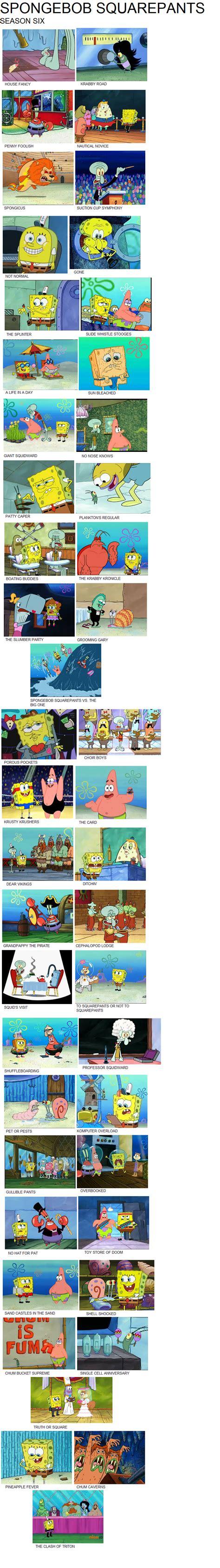 spongebob squarepants season   gojirafan