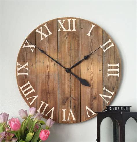 wooden clock ideas  pinterest    wall