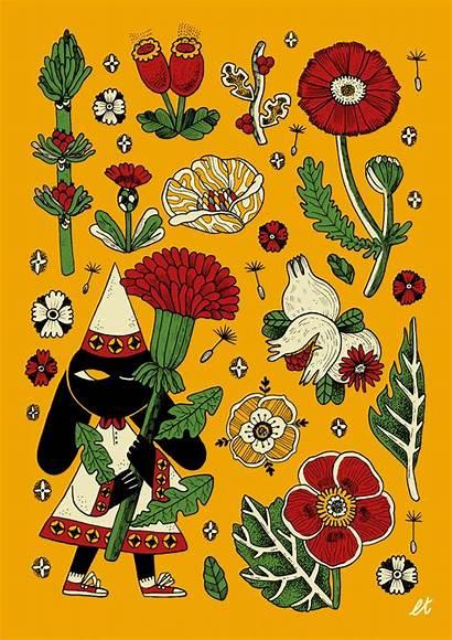 Folk Lia Illustration Illustrations Tuia Characters Behance