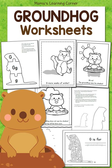 groundhog day worksheets mamas learning corner