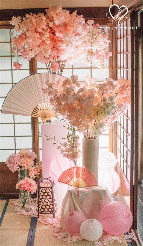 charming pastel sakura theme rom luncheon  blissmoment