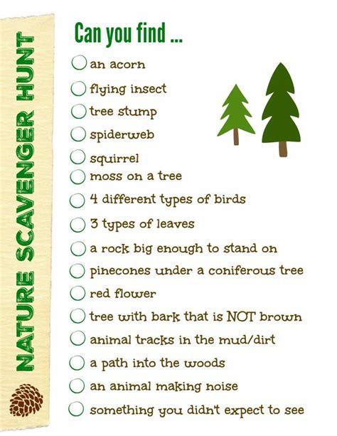 blog nature trail templates nature scavenger hunt free printable list edventures