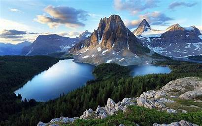 Mountain Forest Lake Wallpapers Nature Desktop Landscape