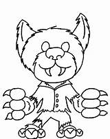 Werewolf Coloring Pages Monster Cute Halloween Printable Monsters Scooby Doo Drawing Print Printables Little Game Mystery Machine Cartoon Funny Getcolorings sketch template
