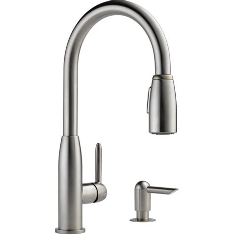 stainless kitchen faucet shop peerless stainless 1 handle pull kitchen faucet