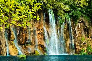 Waterfalls, Crag, Nature, Wallpapers, Hd, Desktop, And
