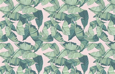 Abstract Green Leaf Wallpaper by Pink And Green Tropical Leaf Wallpaper Murals Wallpaper