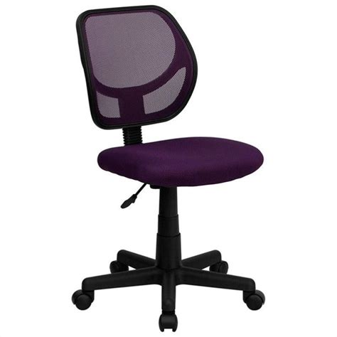 flash furniture mid back purple mesh task and computer