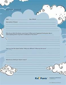 Dream Reflection Journal Printable For Kids Therapy