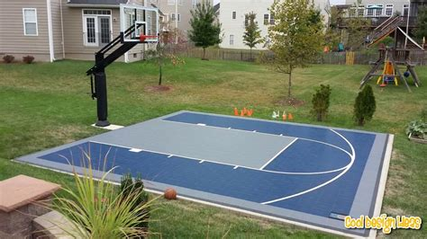 Half Court Basketball Dimensions For A Backyard - backyard basketball court