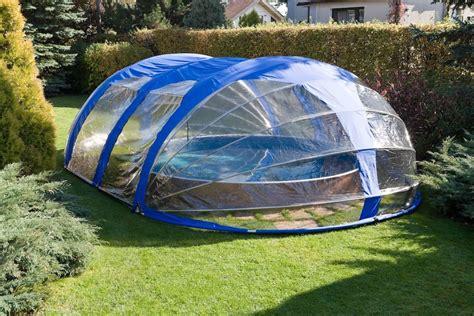 portable pool enclosure pod  mobile oval shaped enclosure