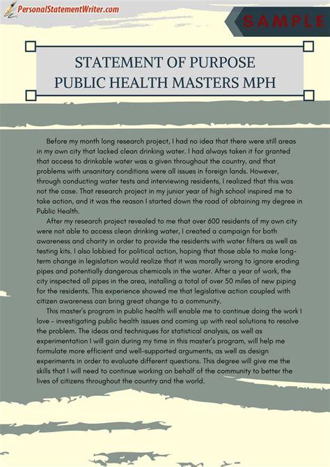 service provide statement purpose  public health