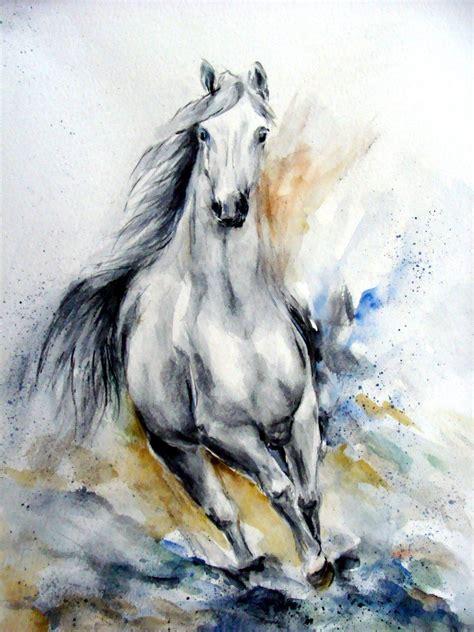 pferd  bewegung  aquarell bewegung von christine