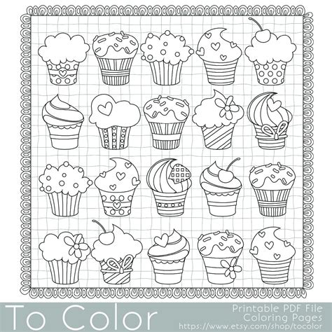 cupcakes coloring page    printable  coloring