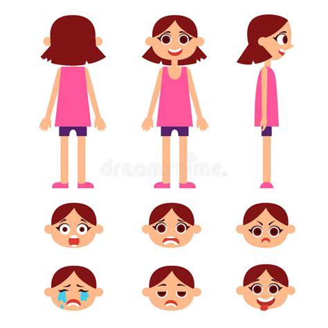 Little girl hair rear view stock vector Illustration of