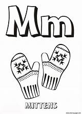 Coloring Pages Alphabet Letter Mittens Alphabets Printable Preschool Worksheets Letters Colouring Tracing Winter K3 sketch template