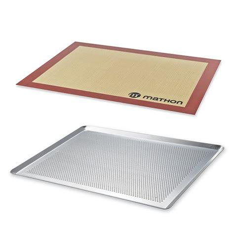 plan de travail cuisine prix lot plaque à pâtisserie perforée 40 cm et tapis de cuisson