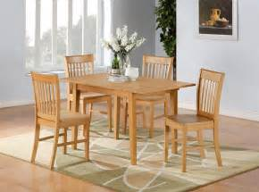 Furniture Kitchen Tables 5pc Norfolk Rectangular Dinette Kitchen Dining Table With 4 Chairs In Oak Ebay