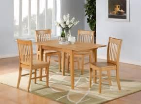 Furniture Kitchen Set 5pc Norfolk Rectangular Dinette Kitchen Dining Table With 4 Chairs In Oak Ebay
