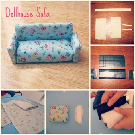 dollhouse couch dollhouse furniture    paper