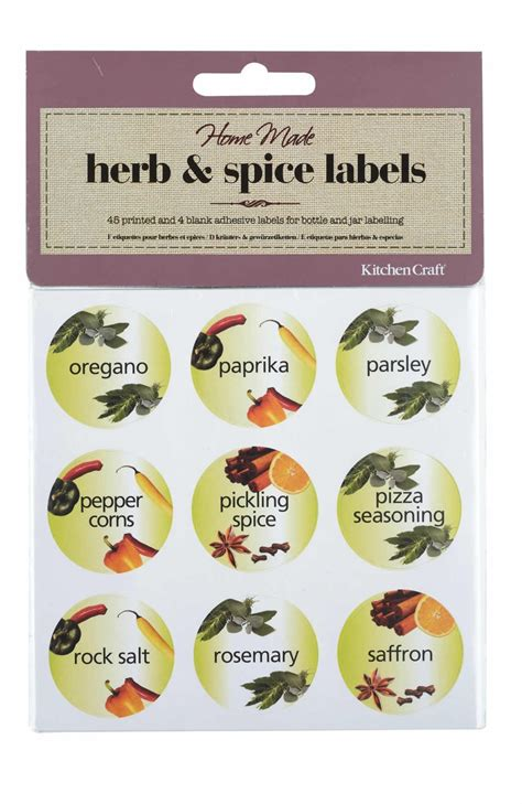 Home Made Pack Of 45 Herb & Spice Bottle Labels  Herbs
