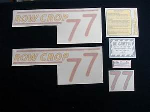 77 Row Crop Red    Vinyl Decal Set