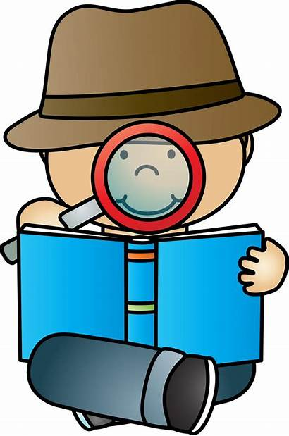Detective Reading Clipart Evidence Finding Investigador Claim