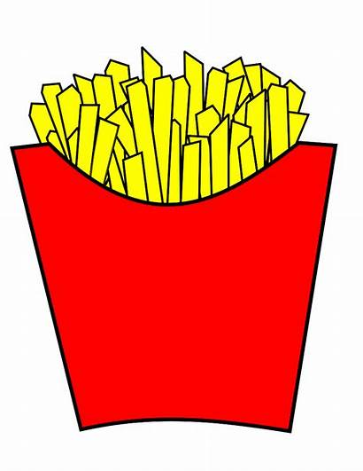 Fries French Fry Cartoon Clipart Clip Chips