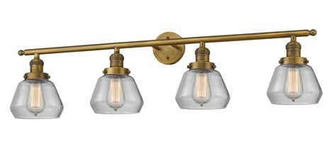 Polished Nickel Bathroom Lighting Fixtures by 4 Light Fulton 42 Quot Brushed Brass Bathroom Fixture With