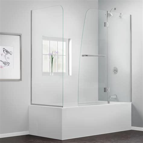 frameless shower doors tub bath authority dreamline aqua frameless hinged tub door