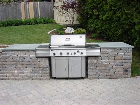 backyard built outdoor kitchen with built in grill find grill outdoor