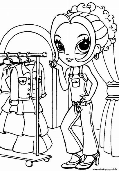 Coloring Frank Shopping Lisa Pages Printable