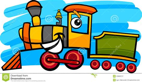Cute Cartoon Train Cartoon Vector