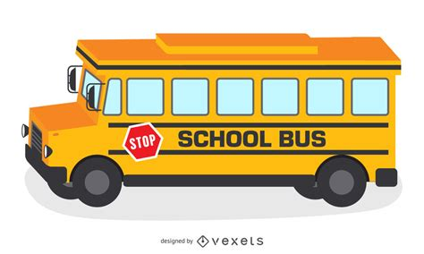 yellow school bus illustration vector