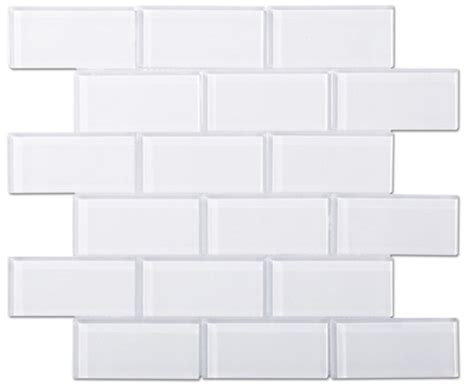 white glass subway tile brilliant white glass 2x4 mosaic subway tile 8mm